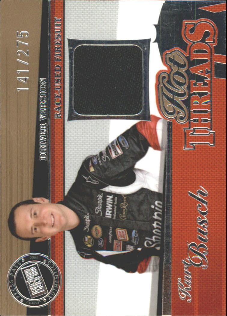 2005 Press Pass Premium Hot Threads Drivers #HTD1 Kurt Busch
