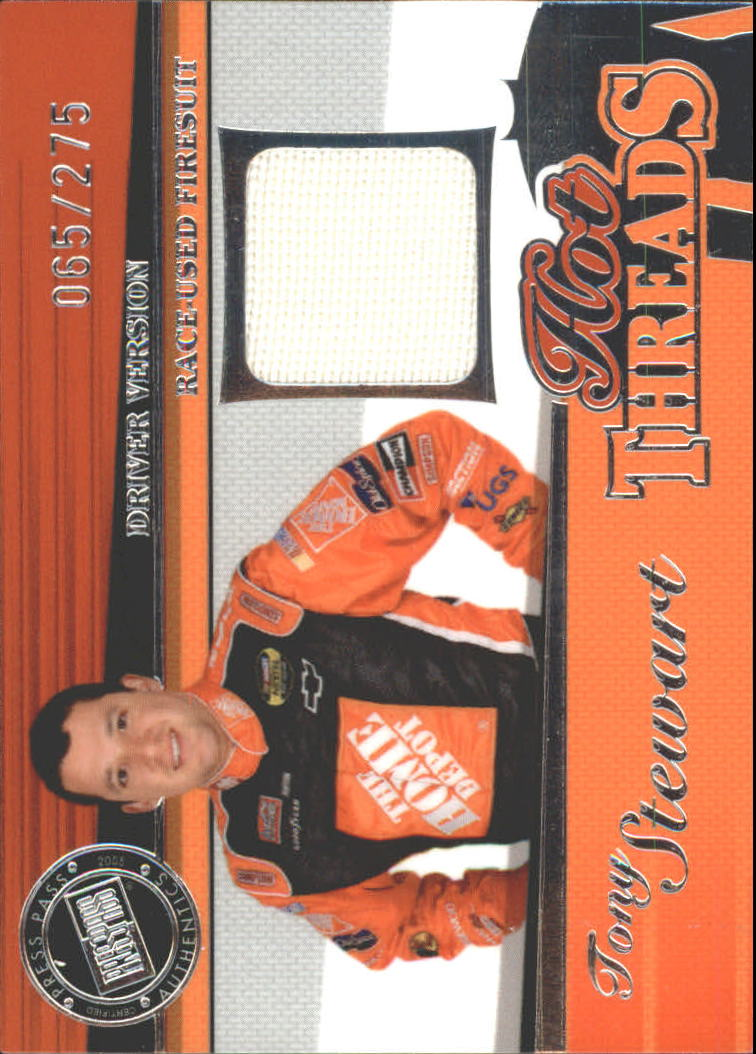 2005 Press Pass Premium Hot Threads Drivers #HTD5 Tony Stewart