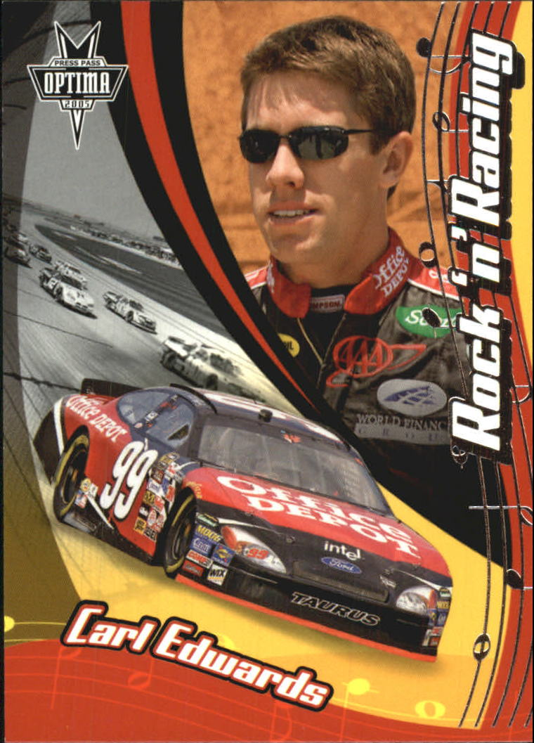 2005 Press Pass Optima #61 Carl Edwards RR