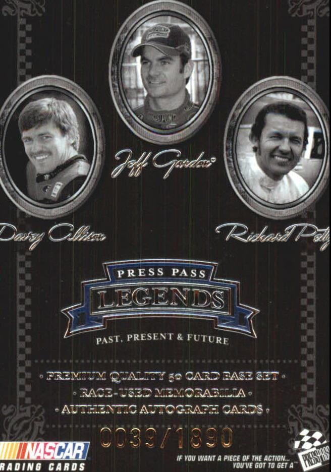 2005 Press Pass Legends Blue #50B D.Allison/Gordon/Petty CL