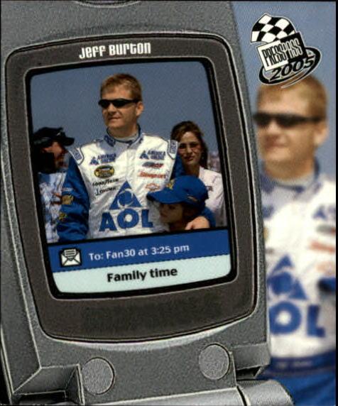 2005 Press Pass Snapshots #SN3 Jeff Burton