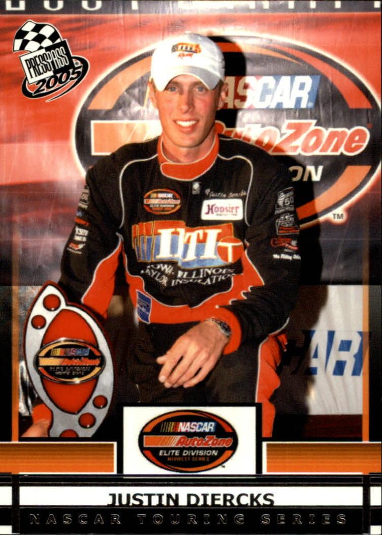 2005 Press Pass #60 Justin Diercks RC