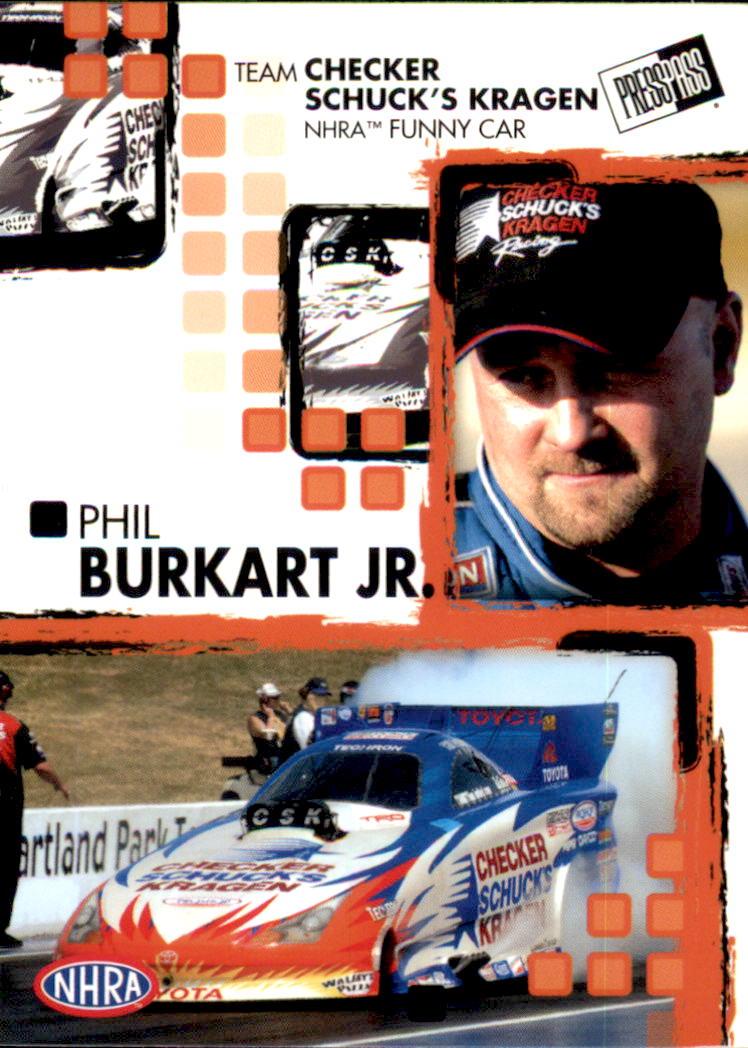 2005 Press Pass NHRA #14 Phil Burkart Jr. RC