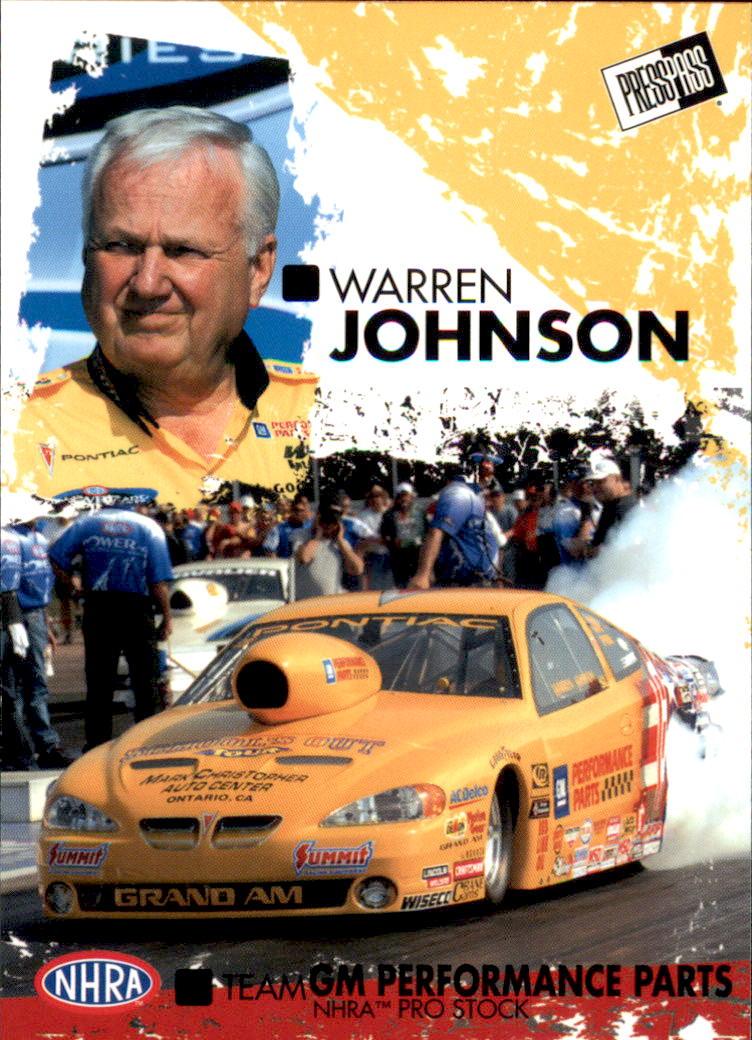 2005 Press Pass NHRA #36 Warren Johnson RC