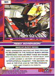 2006 Wheels High Gear #30 Reed Sorenson NBS back image