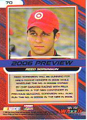 2006 Wheels High Gear #70 Reed Sorenson PREV CRC back image