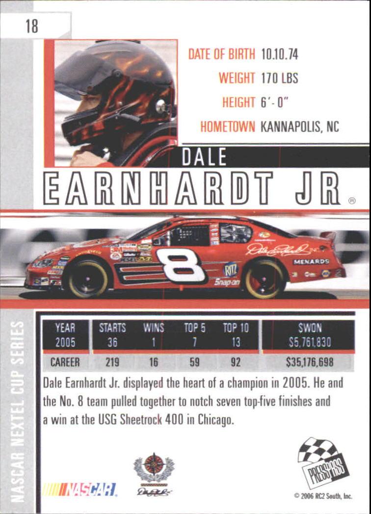 2006 Press Pass Eclipse #18 Dale Earnhardt Jr. back image