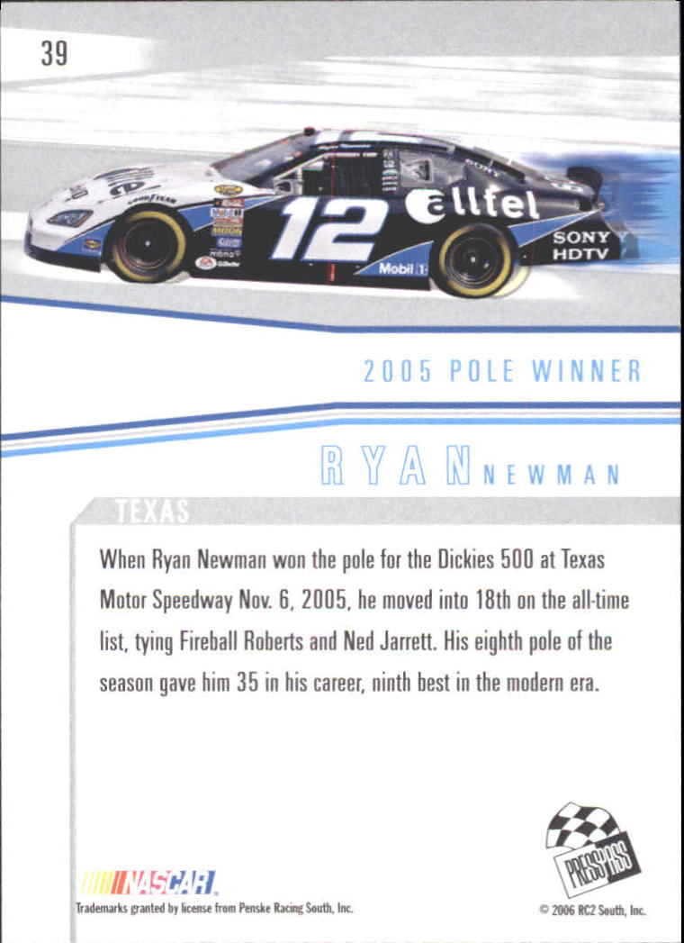 2006 Press Pass Eclipse #39 Ryan Newman WS back image