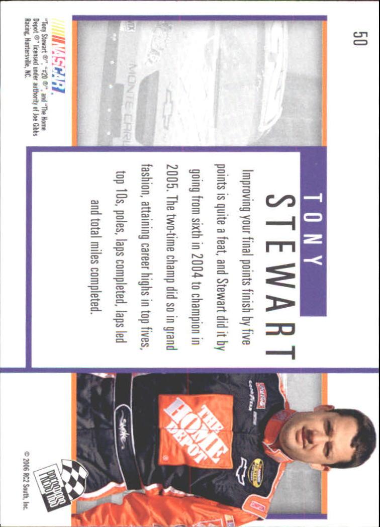 2006 Press Pass Eclipse #50 Tony Stewart P back image