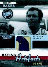 2006 Press Pass Legends Racing Artifacts Firesuit Patch #BBF Buddy Baker
