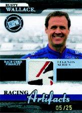 2006 Press Pass Legends Racing Artifacts Firesuit Patch #RWF Rusty Wallace