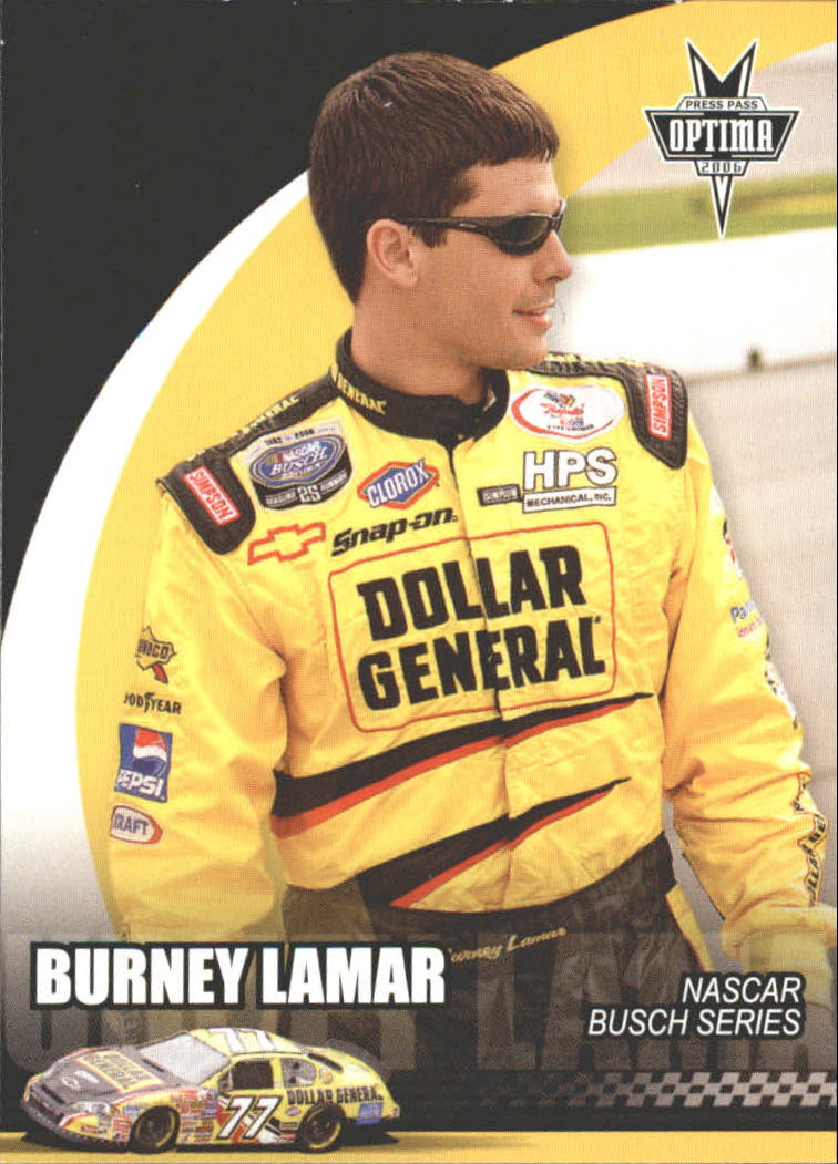 2006 Press Pass Optima #45 Burney Lamar NBS RC