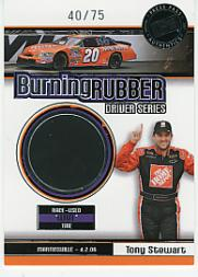 2007 Press Pass Burning Rubber Drivers #BRD3 Tony Stewart Martinsville 4-2