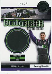 2007 Press Pass Burning Rubber Drivers #BRD10 Denny Hamlin Pocono 6-11
