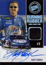 2007 Press Pass Burning Rubber Autographs #BRSKB Kurt Busch/2