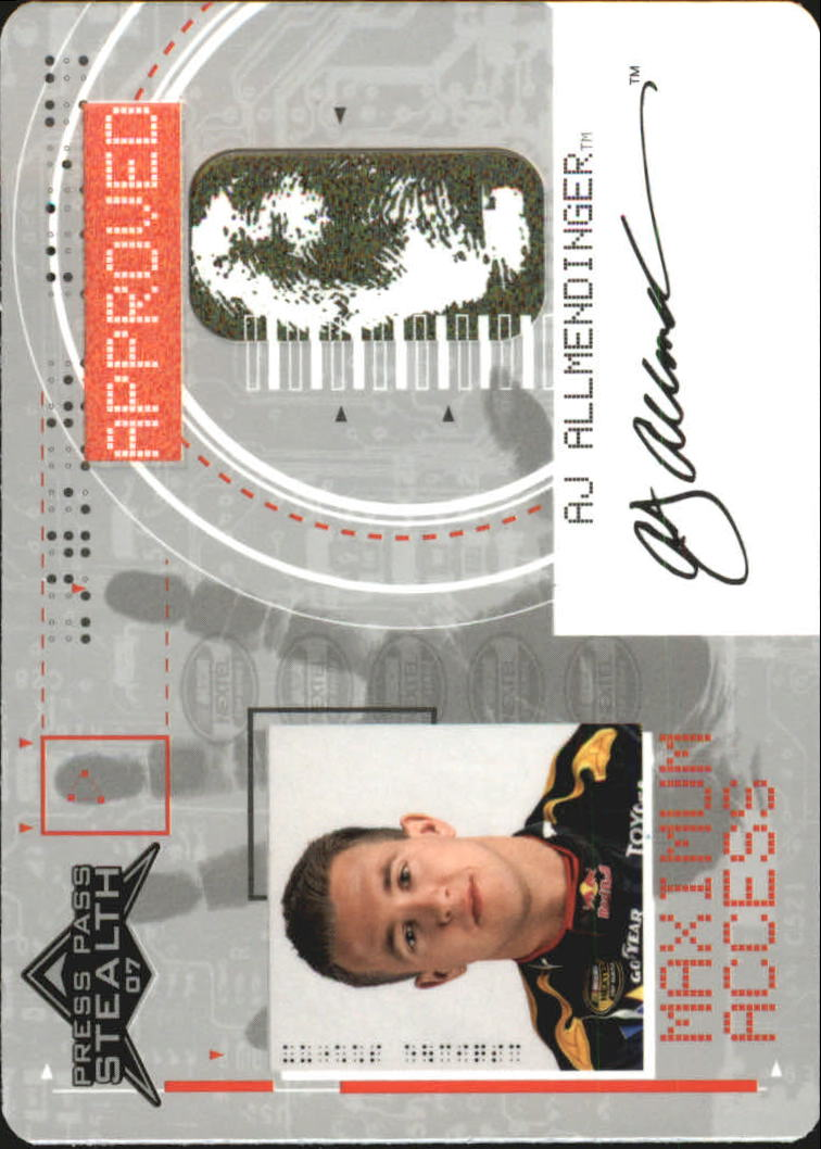 2007 Press Pass Stealth Maximum Access #MA1 A.J. Allmendinger