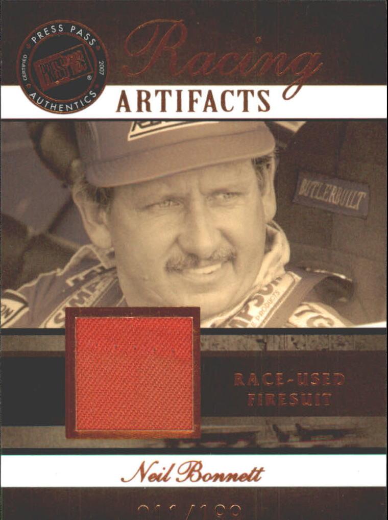 2007 Press Pass Legends Racing Artifacts Firesuit Bronze #NBF Neil Bonnett