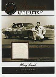 2007 Press Pass Legends Racing Artifacts Firesuit Bronze #TLF Tiny Lund