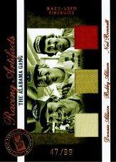 2007 Press Pass Legends Racing Artifacts Firesuit Bronze #AGF Bobby Allison/Donnie Allison/Neil Bonnett/99