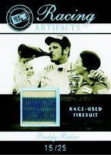 2007 Press Pass Legends Racing Artifacts Firesuit Patch #BBF Buddy Baker