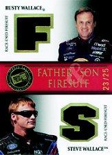 2007 Press Pass Legends Father and Son Firesuits Gold #RWSWF R.Wallace/S.Wallace