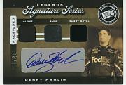 2007 Press Pass Legends Signature Series #DH Denny Hamlin