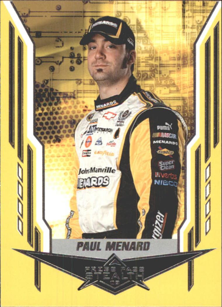 2008 Press Pass Stealth #25 Paul Menard