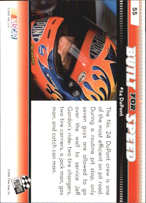 2009 Press Pass #55 Jeff Gordon's Car BFS back image