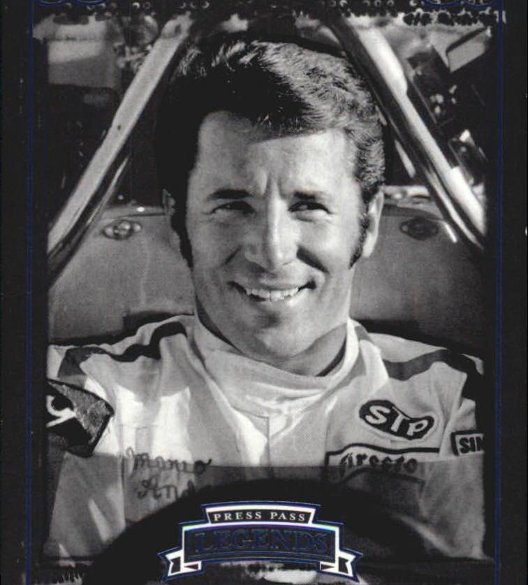 2008 Press Pass Legends Blue #4 Mario Andretti