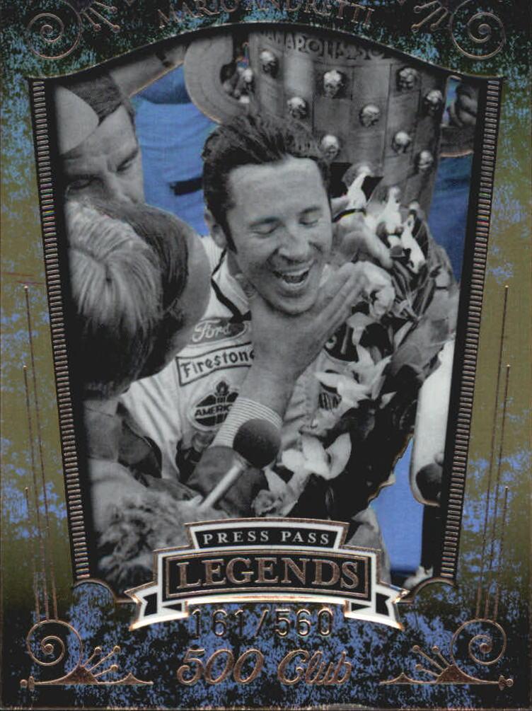 2008 Press Pass Legends 500 Club #5C9 Mario Andretti