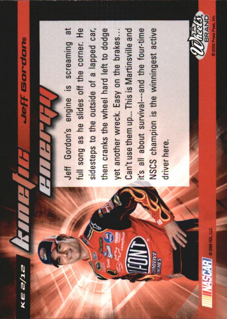 2009 Element Kinetic Energy #KE2 Jeff Gordon back image