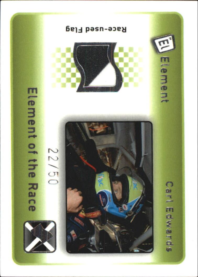 2009 Element Elements of the Race Black-White Flag #ERXCE Carl Edwards