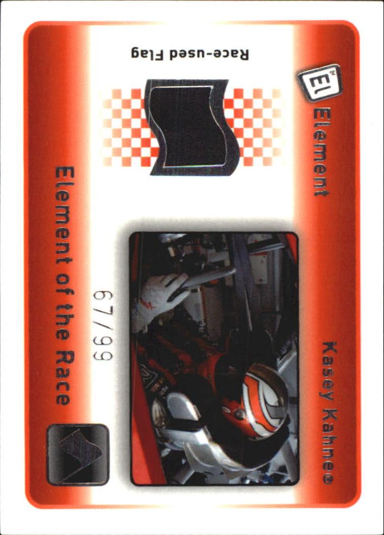 2009 Element Elements of the Race Black Flag #ERBKK Kasey Kahne