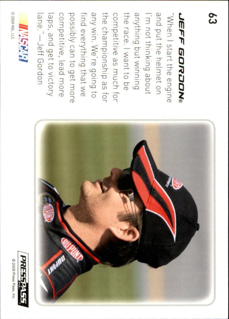 2009 Press Pass Premium #63 Jeff Gordon D back image