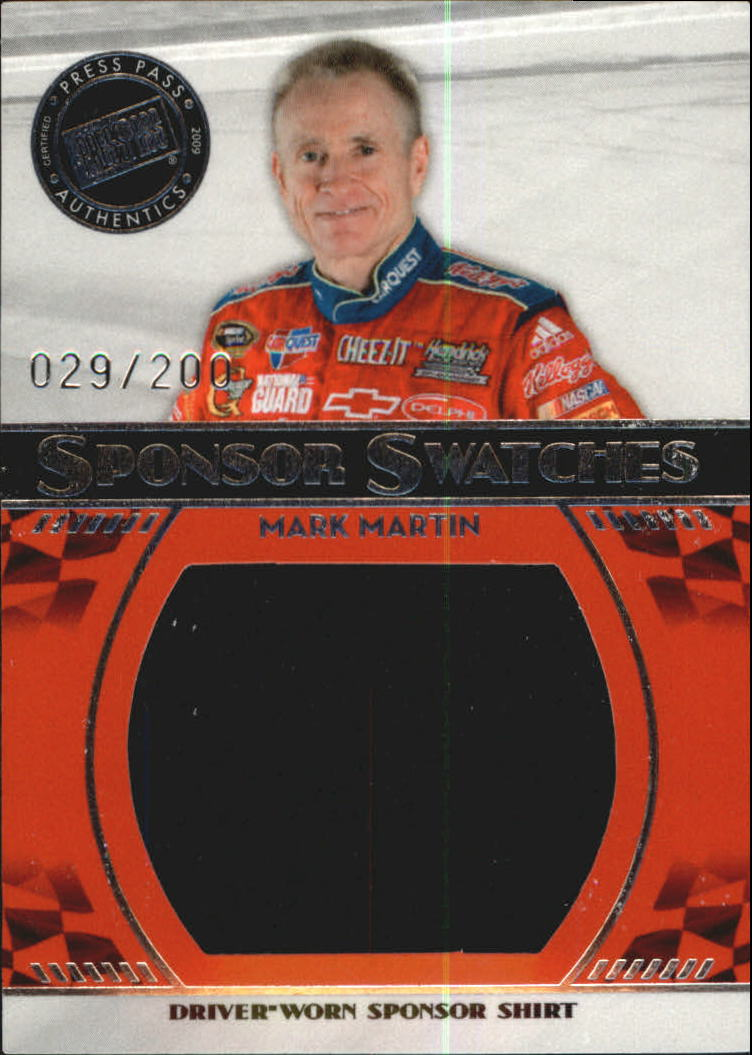 2009 Press Pass Sponsor Swatches #SSMM Mark Martin