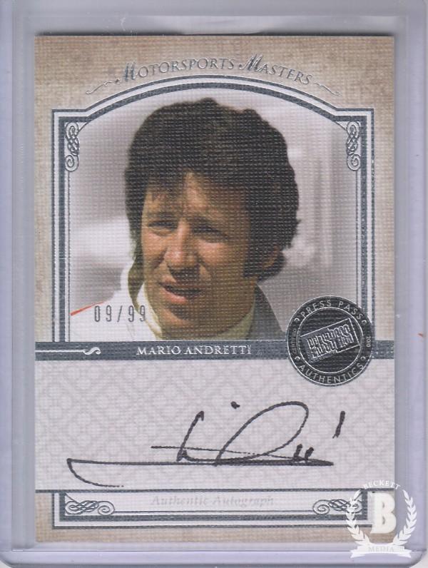 2010 Press Pass Legends Motorsports Masters Autographs Silver #3 Mario Andretti