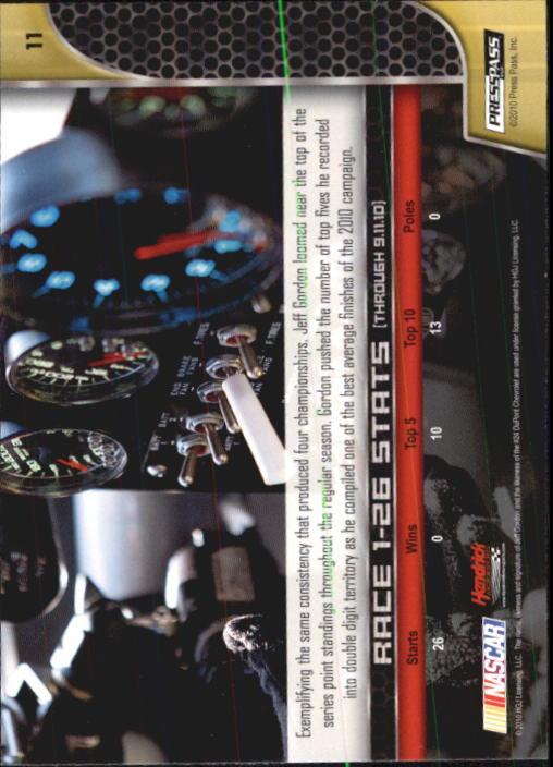 2011 Press Pass #11 Jeff Gordon back image