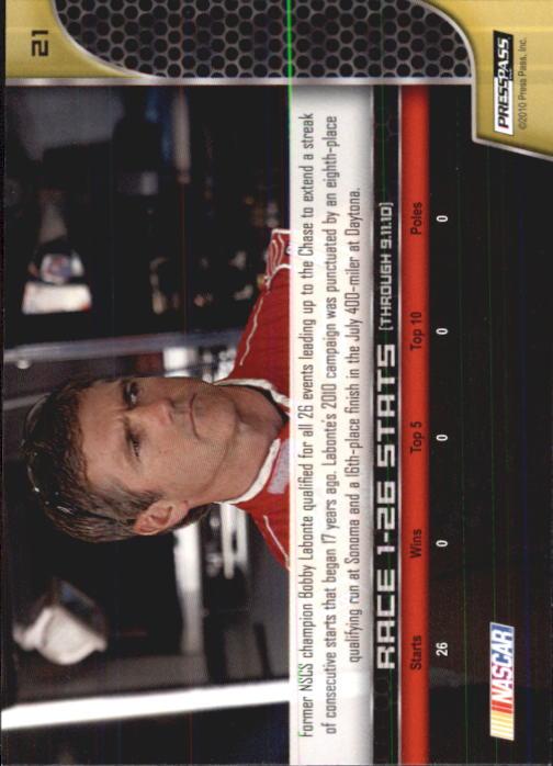 2011 Press Pass #21 Bobby Labonte back image