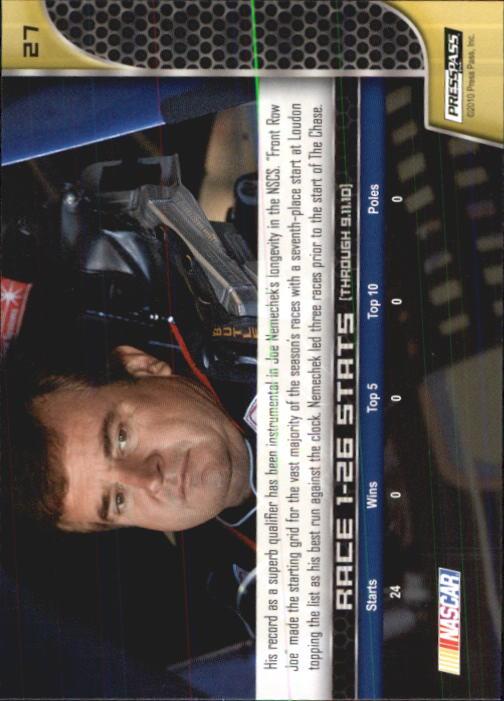 2011 Press Pass #27 Joe Nemechek back image