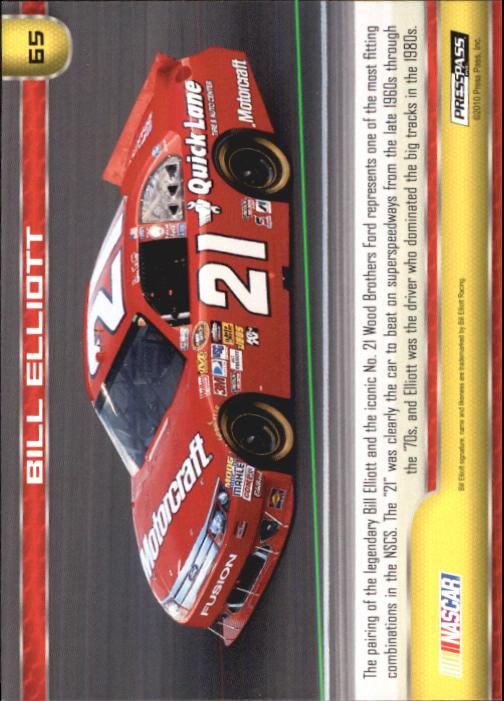 2011 Press Pass #65 Bill Elliott's Car back image