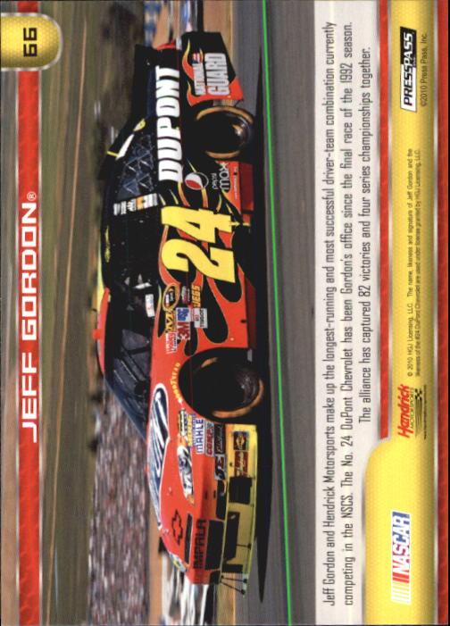 2011 Press Pass #66 Jeff Gordon's Car back image