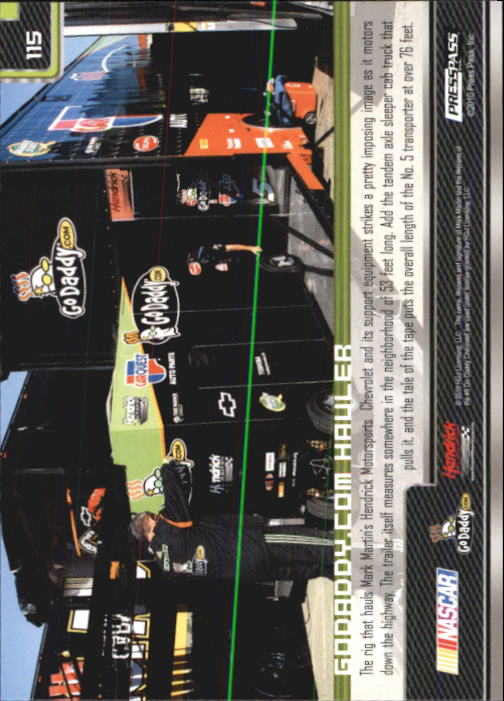 2011 Press Pass #115 Mark Martin's Rig back image