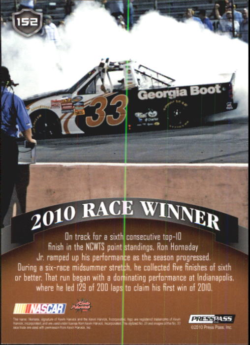 2011 Press Pass #152 Ron Hornaday LP back image