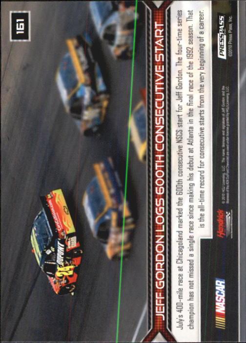 2011 Press Pass #161 Jeff Gordon HL back image