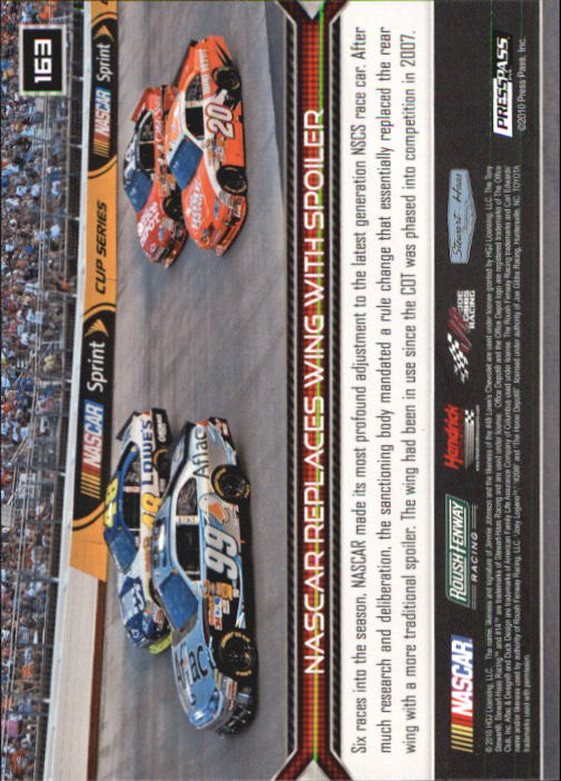 2011 Press Pass #163 Ragan/Logano/Waltrip Cars HL back image