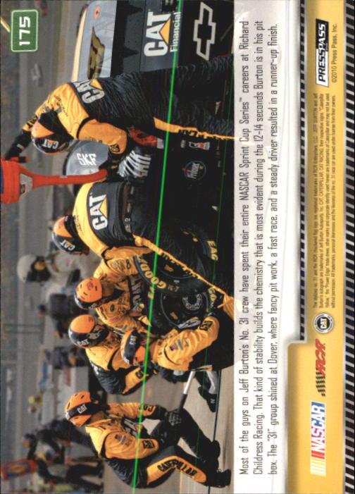 2011 Press Pass #175 Jeff Burton's Car GG back image