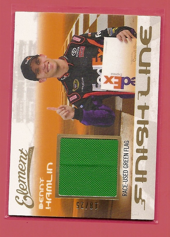 2011 Element Finish Line Green Flag #FLDH Denny Hamlin