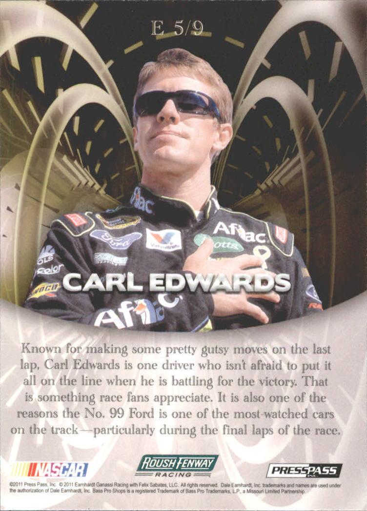 2011 Press Pass Eclipse Encore #E5 Carl Edwards back image