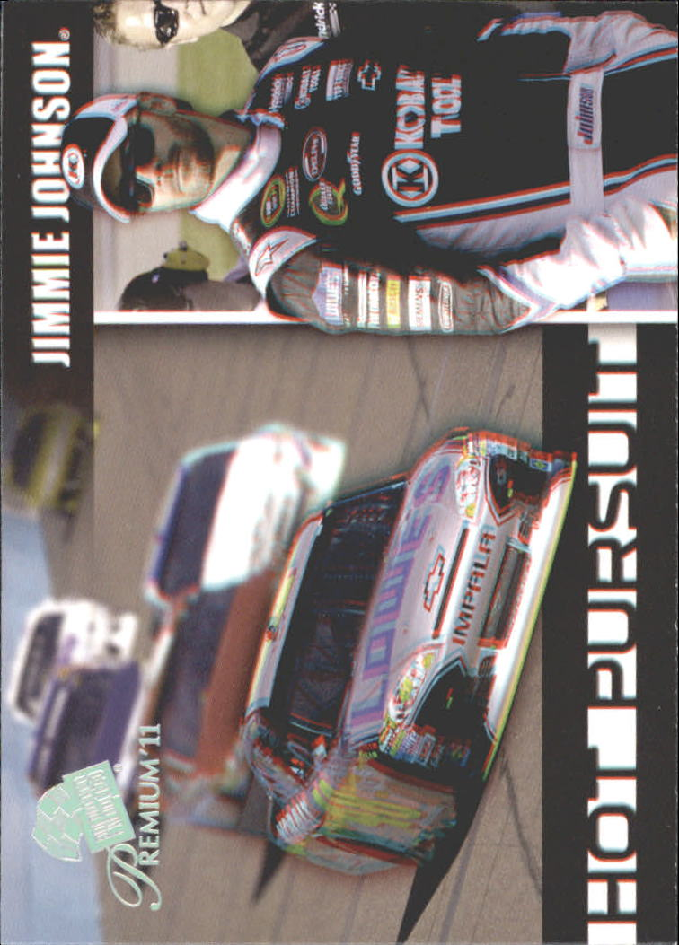 2011 Press Pass Premium Hot Pursuit 3D #HP4 Jimmie Johnson
