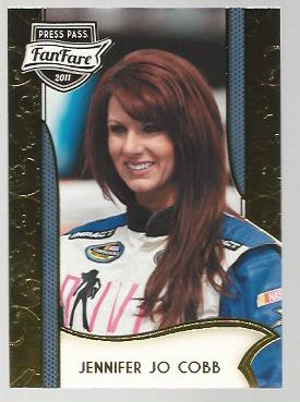2011 Press Pass FanFare #43 Jennifer Jo Cobb RC